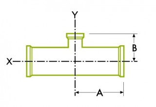 Hygienic Clamp Joint : Short Outlet Reducing Tee