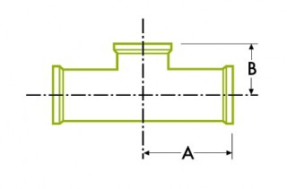 Hygienic Clamp Joint : Short Outlet Tee