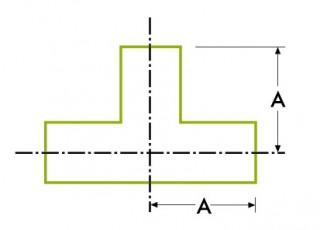 自動チューブ溶接:ストレート 溶接式チーズ / 真っ直ぐ 溶接式クロス