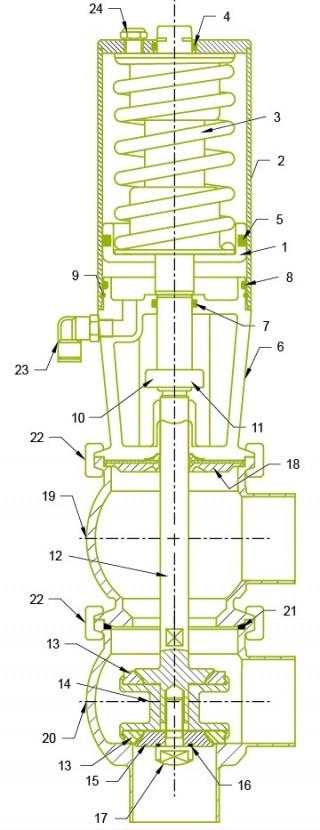 صمام المقعد المزدوج الأصلي