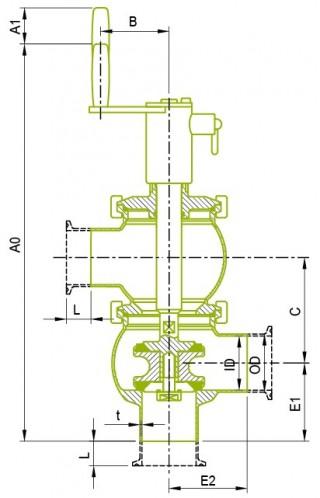 오리지널 수동 더블 시트 밸브