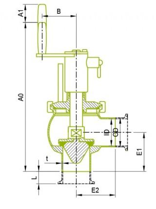 오리지널 수동 싱글 시트 밸브