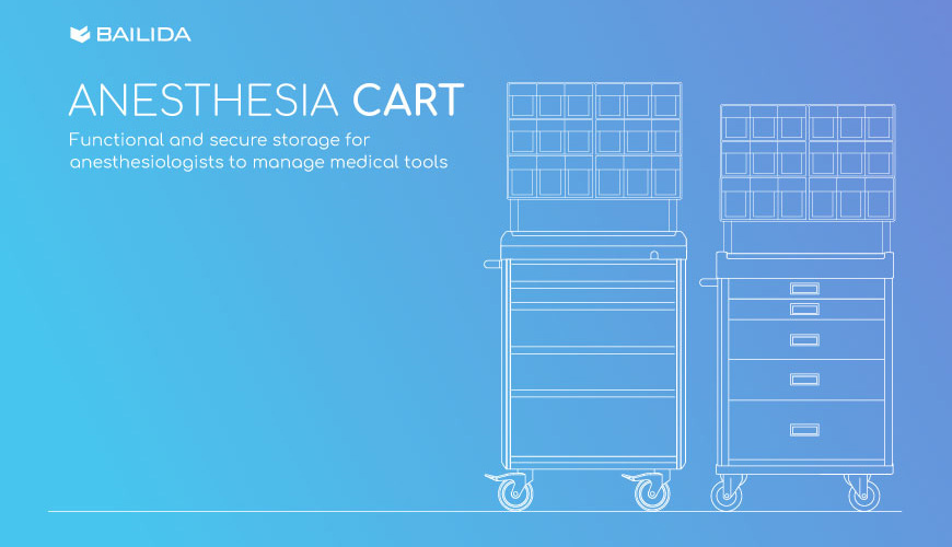 Functional and secure storage for anesthesiologists to manage medical tools.