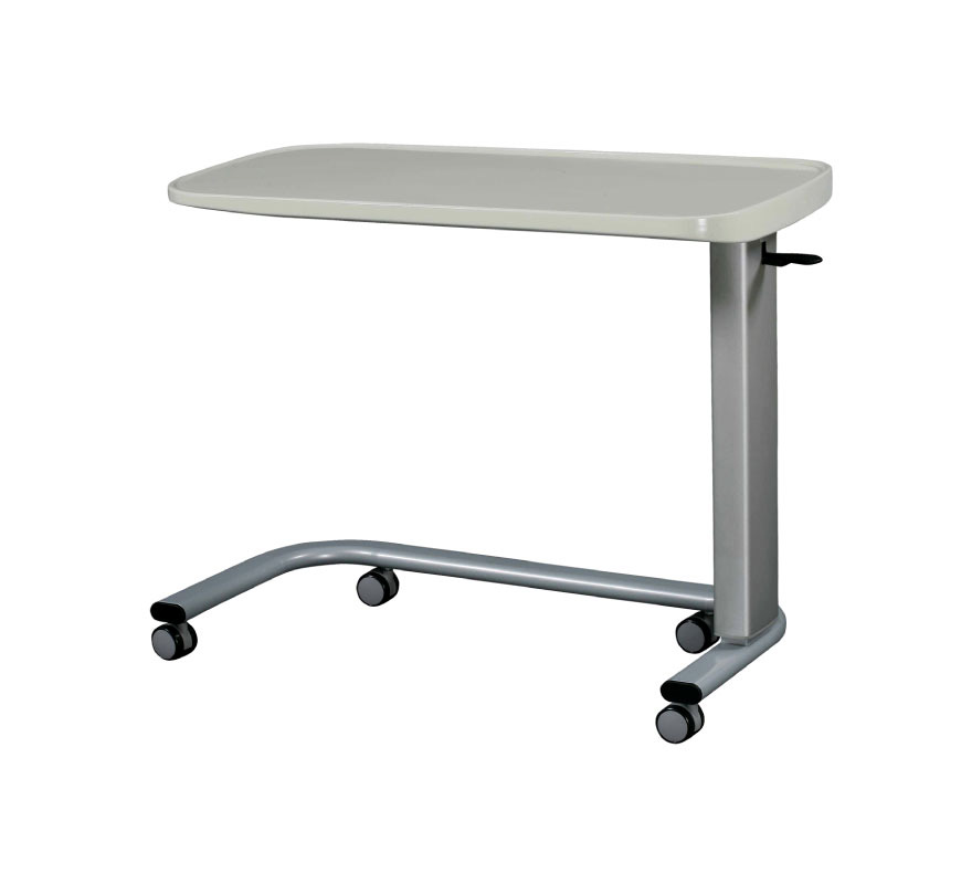 Solid-Surface Top Overbed Table on Castors.