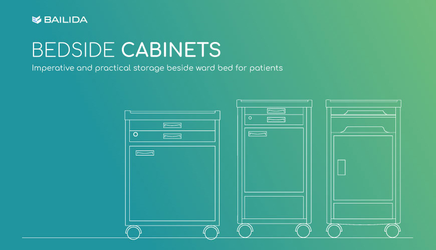 Practical storage equipment for patients in hospital.