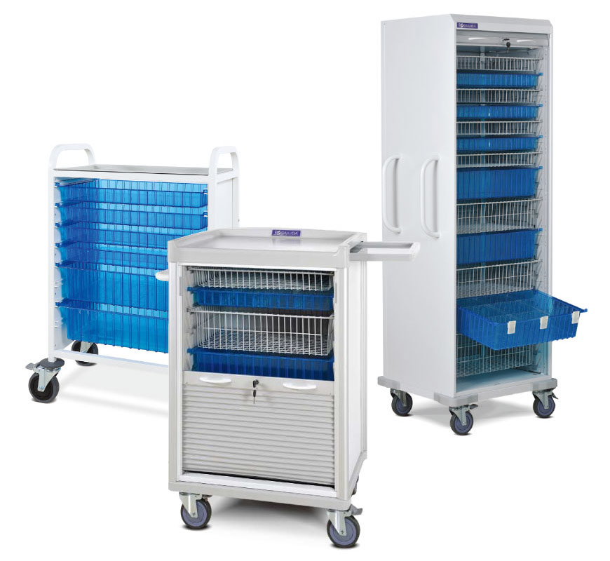 Cabinet System for Medical Supplies.