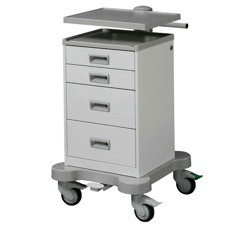 Basic and Modular Equipment Cart with Drawers.