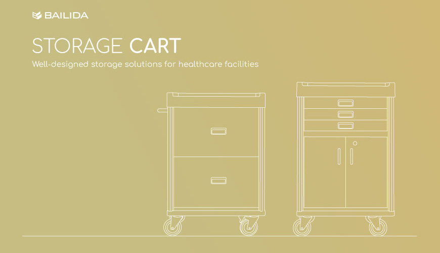 Well-designed storage solutions for healthcare facilities.