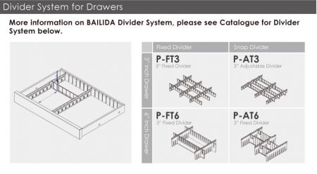 Divider System for Drawers.