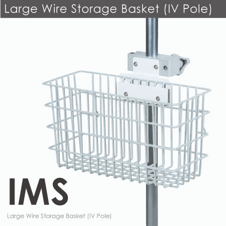 Large Wire Storage Basket (IV Pole).