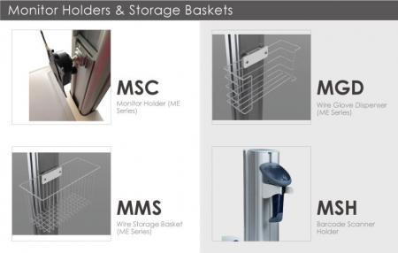 Holders for Monitors and Hand-held (MMS, MGD, MSC, MSH).
