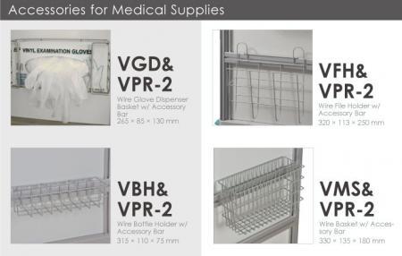 Accesorios para suministros médicos.