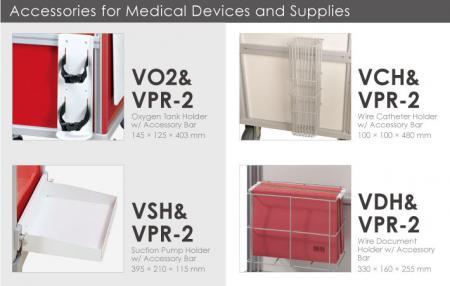 Accesorios para dispositivos y suministros médicos.