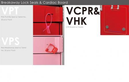 Breakaway Lock Seals & Cardiac Board.