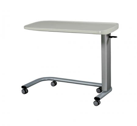 Solid-Surface Top Overbed Table on Castors