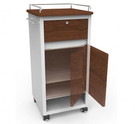 Wood Textured Bedside Cabinet - Hospital Bedside Cabinet laminated with wood texture.