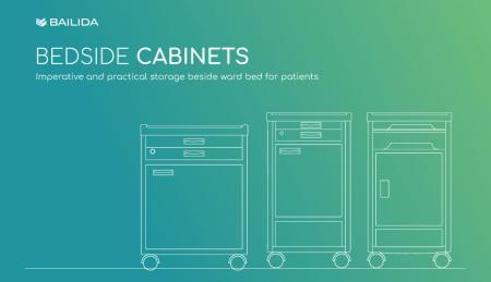 Lemari Samping Tempat Tidur - Peralatan penyimpanan praktis untuk pasien di rumah sakit.
