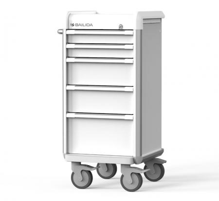 Slim Procedure Cart with Armor Bumper Design (EXN Series) - Procedure Cart with Slimmer Width.