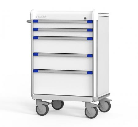 Anesthesia Cart with Armor Bumper Design (EX Series) - Highly Customizable Anesthesia Cart.