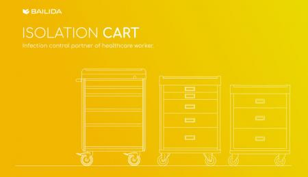 Isolation Cart - Infection control partner of healthcare worker.