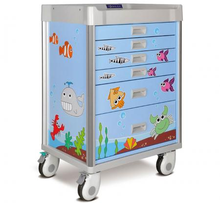 Practical Pediatric Cart with Comprehensive Accessories (MX Series)