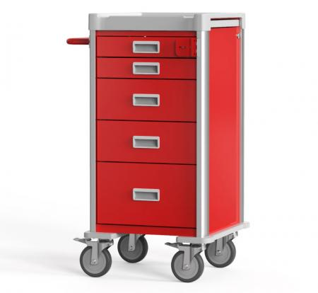 Compact Emergency Cart for Narrow Space (NC Series) - Highly Customizable Compact Crash Cart.