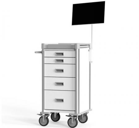 Compact Equipment Cart for Narrow Space (NC Series) - Highly Customizable Compact Equipment Cart.
