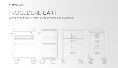 Procedure Cart - Suiting a multitude of medical departments and situations.