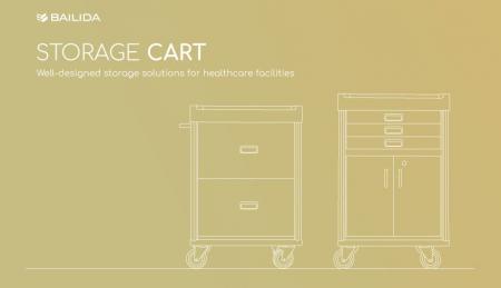Carro de almacenamiento - Soluciones de almacenamiento bien diseñadas para instalaciones sanitarias.