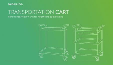 Carro de transporte - Unidad de transporte segura para aplicaciones sanitarias.