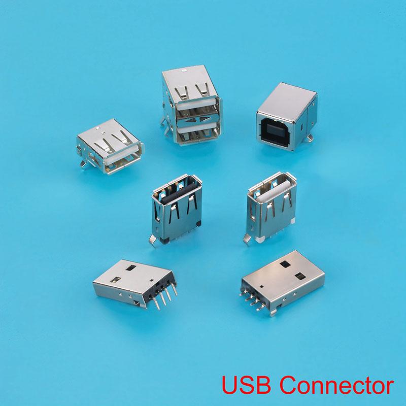 Connecteur de type USB3.0 A, utilisé dans les souris, les claviers et les ordinateurs de bureau.
