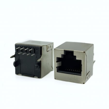 أعلى مقبس ثنائي الفينيل متعدد الكلور (Cat.5) - أعلى دخول PCB جاك