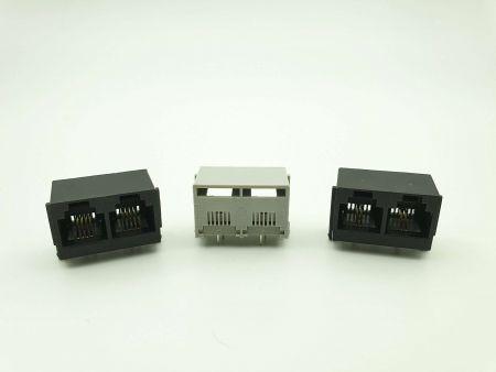 Prise PCB à entrée latérale (Multi-Port, RJ11, UTP) - Prise PCB à entrée latérale