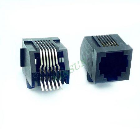 مدخل جانبي PCB Jack SMT 6P6C - مدخل جانبي مقبس ثنائي الفينيل متعدد الكلور