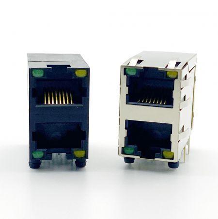 Stacked PCB Jack - Double Level PCB Jack