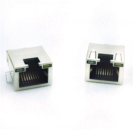 埋め込みPCBジャック - 埋め込みPCBジャック 鉄シェルあり LED付き