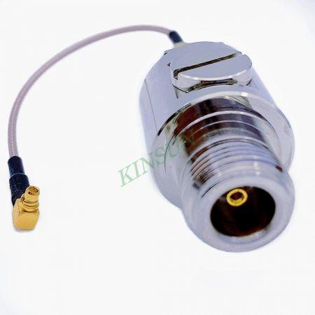 Conector tipo N impermeable y con protección contra rayos - Conector de microondas tipo N resistente al agua y con protección contra rayos