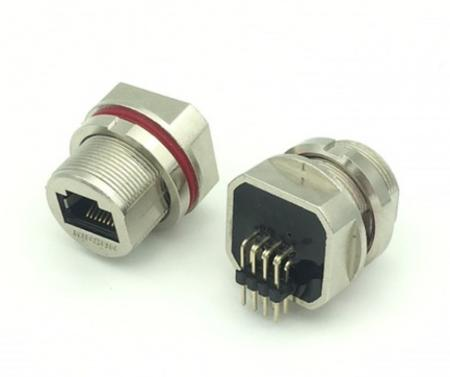 Waterproof right angle coupler - Watertight Connectors