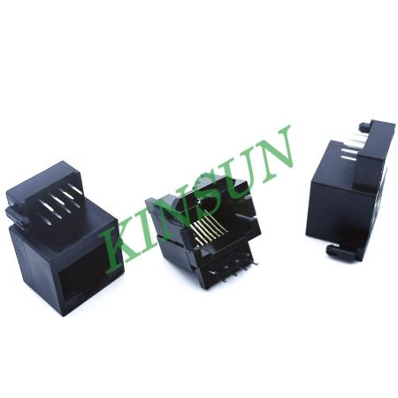 Bottom Entry RJ JACK  KINSUN INDUSTRIES INC. - PCB-Mount Bottom Entry RJ Jack