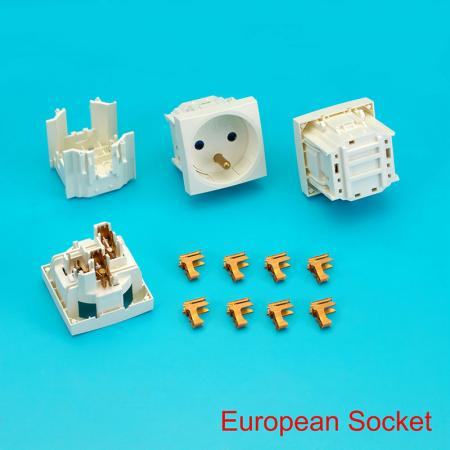 Ổ cắm Châu Âu - Ổ cắm Châu Âu cho phích cắm điện 4501.