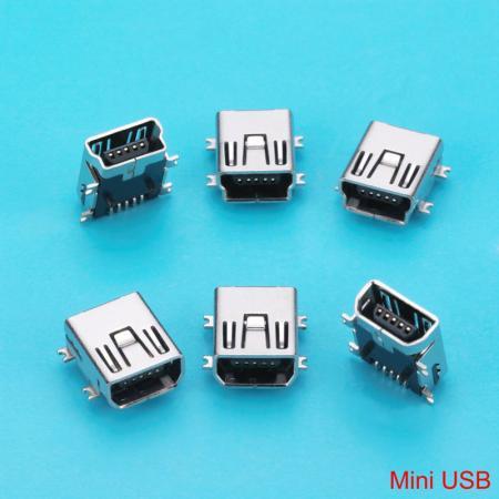 رابط مینی USB - اتصال دهنده های جک Mini USB B Type با ماده نر 5/8/10 پین