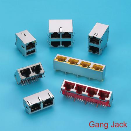 Gniazdo RJ kątowe - Gniazdo RJ do montażu na płytce drukowanej