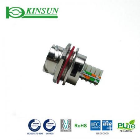 جک ضد آب فلزی Cat.5e با IDC - اتصال ضد آب قفل سریع فلزی
