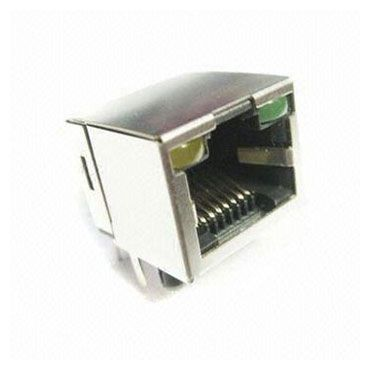 Entrée latérale PCB Jack Latch Up avec LED - Prise RJ avec connecteur de montage PCB
