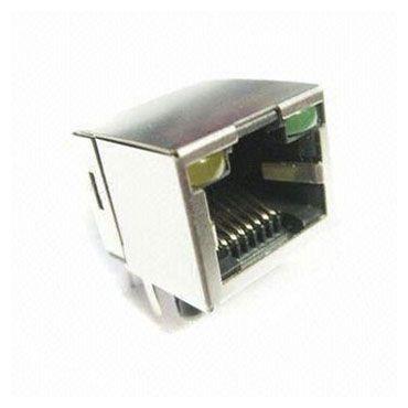 Đầu vào bên cạnh PCB Jack Latch Up với đèn LED - Jack RJ với đầu nối gắn PCB
