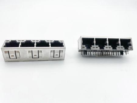 Side Entry PCB Jack With LED Multi-Port - Side Entry PCB Jack With LED Multi-Port