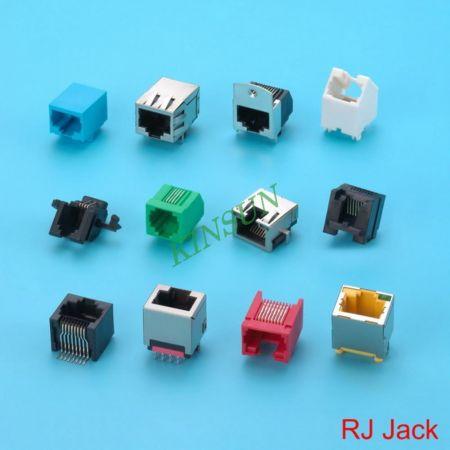 RJ Modüler Jak - RJ45 / 12/11 Tip PCB'li Modüler Jak Fişi.