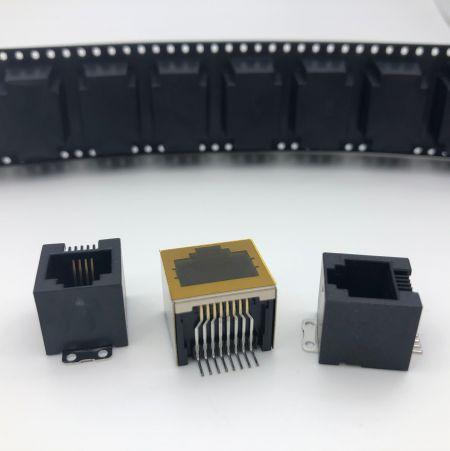 Prise modulaire RJ de type CMS - Prise SMT à entrée latérale