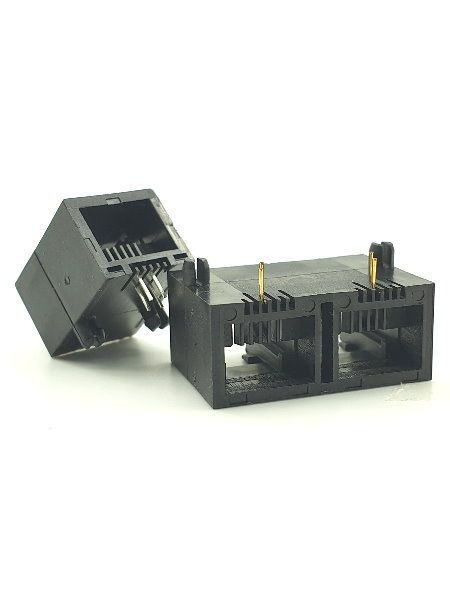Prise PCB à entrée latérale RJ11 verrouillable - Prise PCB à entrée latérale RJ11