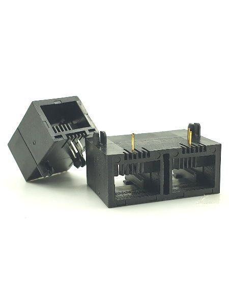 ورودی جانبی PCB Jack RJ11 Latch Up - ورودی جانبی PCB Jack RJ11
